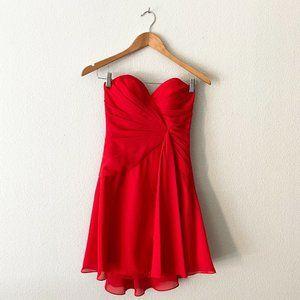 Faviana Bright Vibrant Red Sweetheart Dress Wrap
